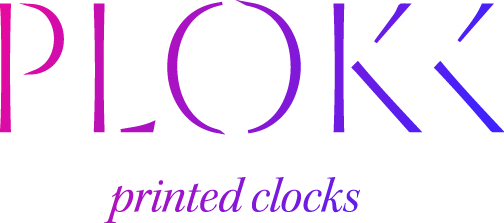 Logo Plokk -3D printed clocks